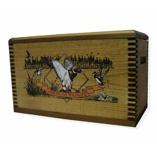 "Wooden Accessory Box With ""Wildlife Series"" Duck Print"