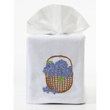Blue Hydrangea Basket Tissue Box Cover