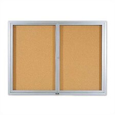Deluxe Enclosed Bulletin Boards - Aluminum Frame