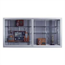 Series 50 Wall-Mounted Sliding Glass Door Trophy Cases - Burlap Fabric (with Lighting)
