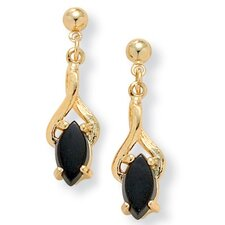 Gold Plated Onyx Earrings