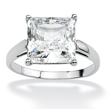 Princess-Cut Cubic Zirconia Ring