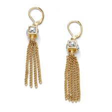 Crystal Cube Multi-Chain Earrings