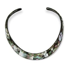Mother of Pearl Choker Necklace