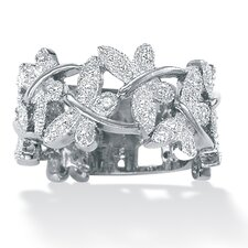 Platinum Diamond Butterfly Band
