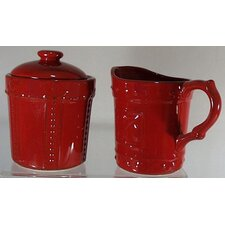 Sorrento Ruby Sugar and Creamer Set