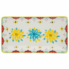 Flower Power Rectangular Serving Tray