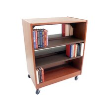 Double Face Mobile Shelving Unit with Deflecta-Stops and Casters