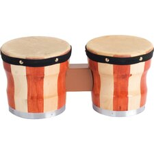 Two-Tone Wood Bongos / Drum