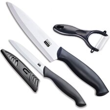 3 Piece Ceramic Knife Chef Set