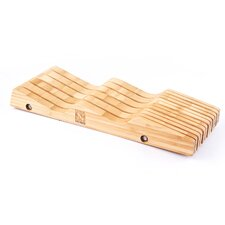 Bamboo In-Drawer Knife Block