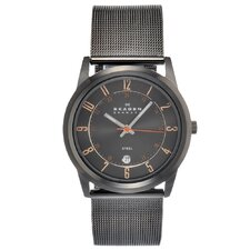 Steel Men's Crystal Watch