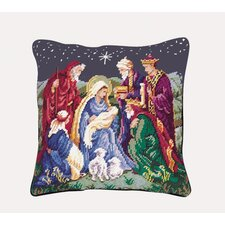 Return of the Magi Needlepoint Pillow
