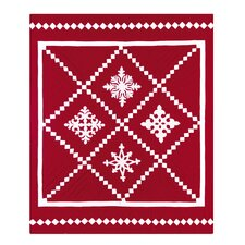 Snowfall Quilted Cotton Throw