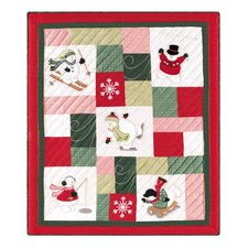 Winter Wonderland Quilted Cotton Throw