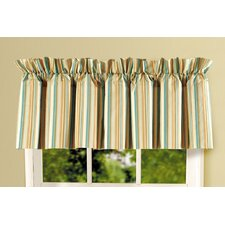 Natural Shells Stripes Cotton Rod Pocket Ruffled Curtain Valance