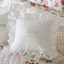 Kisses Embroidered Toss Pillow