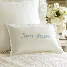 Sweet Dreams Linen Boudoir Pillow