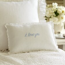 I Love You Linen Boudoir Pillow