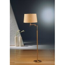 2 Light Swing Arm Floor Lamp