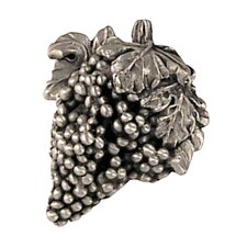 Fruits of Nature Grape Knob in Distressed Satin Pewter