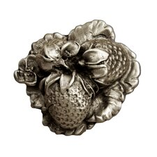 Fruits of Nature Straberry Knob in Distressed Pewter Matte