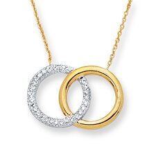14k Two-Tone Circle Of Life Necklace - 18 Inch