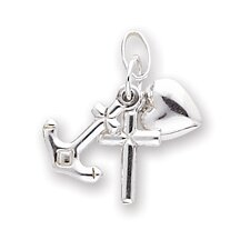 14k Faith Hope and Charity Charm
