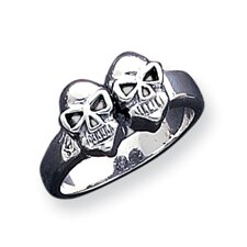 Sterling Silver Skull Masonic Ring