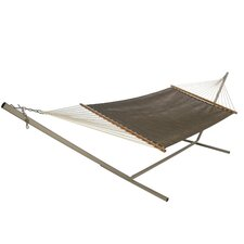 Large Open Weave Hammock with Stand