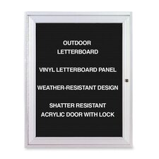 Outdoor Enclosed Letterboards,1-Door,3'x2',Aluminum Frame