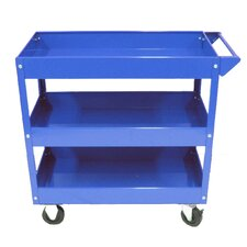Metal Tool Cart with 3 Trays