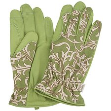 English Vine Green Print Glove, Hat and Apron Set