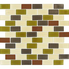 "12"" x 12"" Crystallized Glass Mosaic in Everglade"