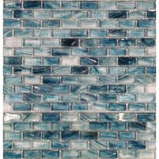 "12"" x 12"" Crystallized Glass Mosaic in Blue Cotton"