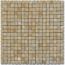 "12"" x 12"" Polished Mosaic Tile in Giallo Crystal Onyx"