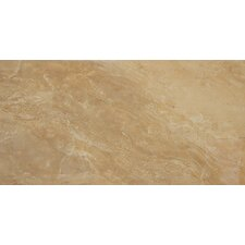"Pietra Royal 24"" x 12"" Porcelain Polished Floor and Wall Tile in Glazed"