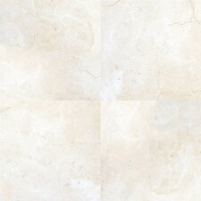 "Pietra Marfil 18"" x 18"" Porcelain Polished Floor and Wall Tile in High Gloss"