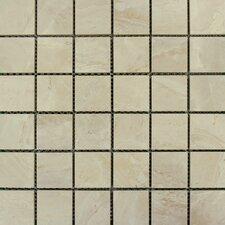 "Pietra Onyx 2"" x 2"" Porcelain Polished Floor and Wall Mosaic Tile in High Gloss"