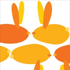 Animal - Bunnies Stretched Wall Art