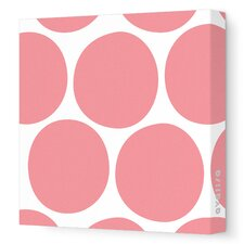 Pattern - Big Dots Stretched Wall Art