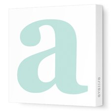 Letter - Lower Case 'a' Stretched Wall Art