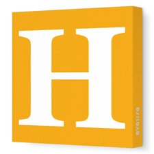 Letter - Upper Case 'H' Stretched Wall Art