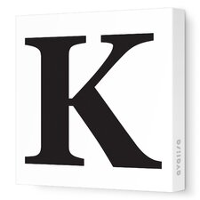 Letter - Upper Case 'K' Stretched Wall Art