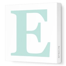 Letter - Upper Case 'E' Stretched Wall Art
