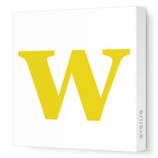 Letter - Lower Case 'w' Stretched Wall Art