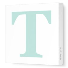 Letter - Upper Case 'T' Stretched Wall Art