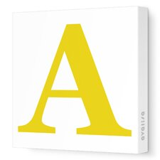 Letter - Upper Case 'A' Stretched Wall Art