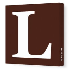 Letter - Upper Case 'L' Stretched Wall Art