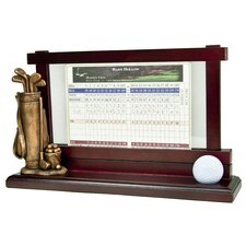 Golf Scorecard and Ball Holder
